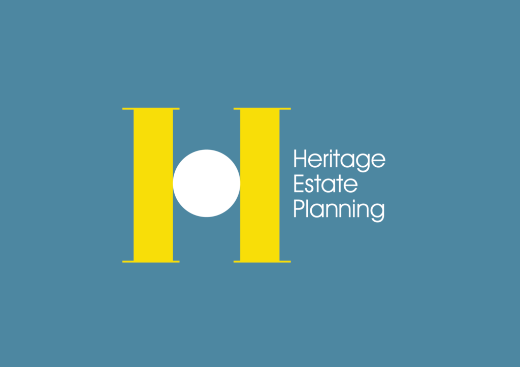 Heritage Estate Planning logo with blue background